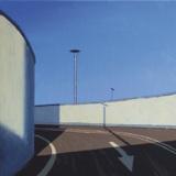 Parkdeck I (2007), Acryl auf Leinwand, 40 cm x 40 cm