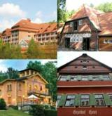 La Villa (u. links), Göbels Hotel Rodenberg, Gut Thansen, Hezelhof (u. rechts.)