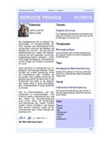 Newsletter SERVICE TRENDS 01 2015