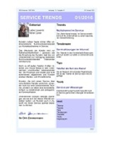 Newsletter SERVICE TRENDS 012016