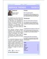 Newsletter SERVICE TRENDS 03 2013