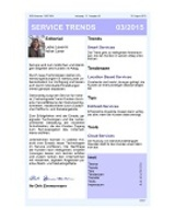 Newsletter SERVICE TRENDS 032015