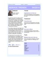Newsletter SERVICE TRENDS 04 2014