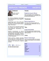 Newsletter SERVICE TRENDS 042015
