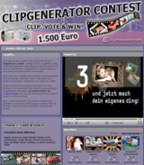 Clipgenerator Contest auf MyVideo.de
