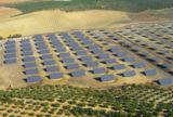 Das 1,9-Megawatt-Solarstromkraftwerk bei Espejo/Spanien