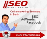 Onlinemarketing-Seminare in Berlin - SEO, AdWords, Facebook & Analytics