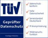 TÜV-bestätigt: geprüfter Datenschutz und Datensicherheit
