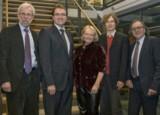 Prof. Ludwig, Prof. Augustin, Dr. Kiewel, Chr. Kranich und Prof. Häussler beim 9. Eppendorfer Dialog