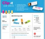 Neuer Shop für USB-Sticks - Bedrucken von Clipits