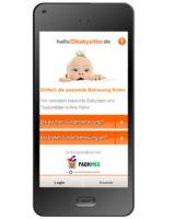Smartphone-optimierte Website von www.HalloBabysitter.de