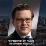 Dr. Kraska im NovaStor Webinar zu rechtlichen Grundlagen der Datensicherung