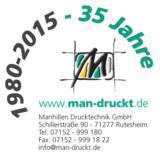Der Rutesheimer Druckspezialdienstleister feiert 2015 sein 35-jähriges Jubiläum.