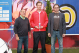 Turnierdirektor Peter Rohsmann, Frank Manhillen und Tennisspieler Nils Langer beim Jugend Cup.