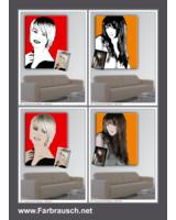 Farbrausch - Portraits im Retro- oder Popart-Stil