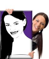 Porträt vom Foto im Retro-Stil