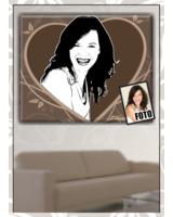 Farbrausch.net - Porträt vom Foto im Retro-Stil