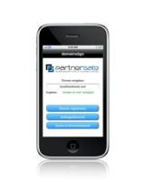 domains2go ermöglicht von unterwegs das schnelle Registriere