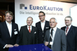 Am Messestand des Titelsponsors EuroKaution