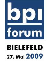 Einladung zum bpi forum 2009