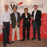 Bei der Preisverleihung: WatchGuard und WickHill-Vertreter