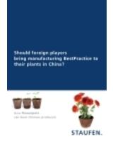 Fachaufsatz zur Produktionsverlagerung nach China