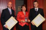 Dr. Herbert Stommel (4flow AG), Karin Kubik und Dr. Michael Brieke (beide MAN Nutzfahrzeuge AG).