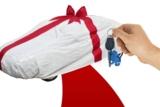 Fahrzeugübergabe mit Geschenkverpackung