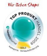 """Wir lieben Shops"" ist TOP PRODUKT HANDEL 2009"