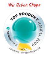 """Wir lieben Shops"" TOP PRODUKT HANDEL 2009 (handelsjournal)"
