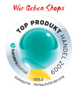 """""""Wir lieben Shops"""" ist TOP PRODUKT HANDEL 2009 in der Katego"""