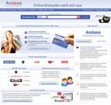 """Screenshot der aktuellen AdiCash Website mit Hinweis auf die Umbenennung in """"Andasa"""""""