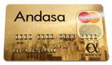 Die Andasa MasterCard Gold ist dauerhaft gebührenfrei