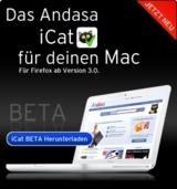Cashback sammeln beim Einkauf mit Andasa gibts auch für die Mac OS X Version
