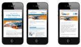 Eine optimierte Version des Newsletters sorgt für die fehlerfreie Darstellung auf mobilen Endgeräten