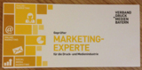"Flyer zur Qualifizierungreihe ""Geprüfter Marketing-Experte"""