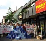Studenten forderten faire Milchpreise (Foto: Proplanta)