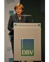 Merkel auf dem Deutschen Bauerntag 2009 (Foto: Proplanta)