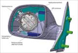 CAD-Zeichnung der Außenspiegelantenne