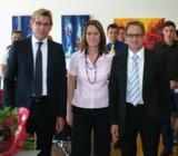(v.l.n.r.) E. Scheuber, Geschäftsführer, S. Lück, M. Wolf
