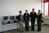 Die Vertreterinnen der Schulen mit E.Scheuber,Geschätsführer