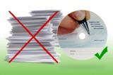 Eine CD spart tausende Seiten bedrucktes Papier