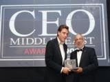 """Robin Lohmann (im Bild links) bei der Preisübergabe des """"CEO"""