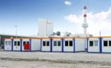 HKL BAUMASCHINEN Containeranlage für Glaswerk-Sanierung