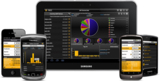 Reboard-Nutzer können via Tablet PCs und Smartphones mobil auf Unternehmens-Kennzahlen und andere relevante Daten zugreifen.