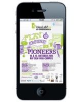 """Die Mobile Event Guide-App bringt alle Informationen rund um das """"IdeaLab!"""" aufs Smartphone."""