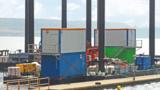 Neue Untersuchung des Erdrutsches. HKL liefert Raumsysteme, Stromerzeuger und Anschlagmittel.