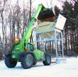 Der Teleskoplader von Merlo aus dem HKL MIETPARK ist auch im Winterdienst vielseitig einsetzbar.