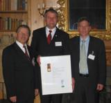 v.l.n.r. Prof.Dr.Pfeiffer, Gerhard R. Daiger, Dr.Lohmüller