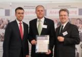 Wirtschaftsminister Dr. Nils Schmid, Senator h.c. Gerhard R. Daiger, Generalvikar Dr. Stroppel